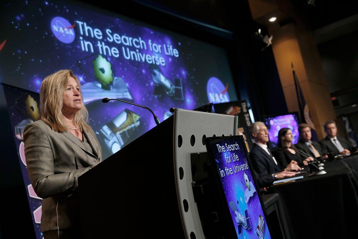 NASA chief scientist Ellen Stofan speaks at a NASA panel on Tuesday.