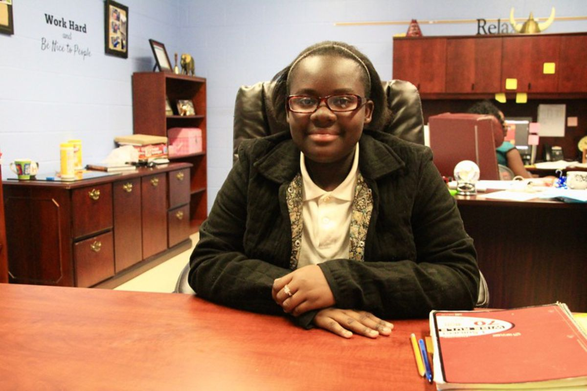 Eighth-grader LaTonja Boyce now gets driven by a family member to Riverview School, a K-8 school in south Memphis, but that's not always been the case.