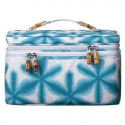 Double Train Case in Turquoise Start Print $29.99