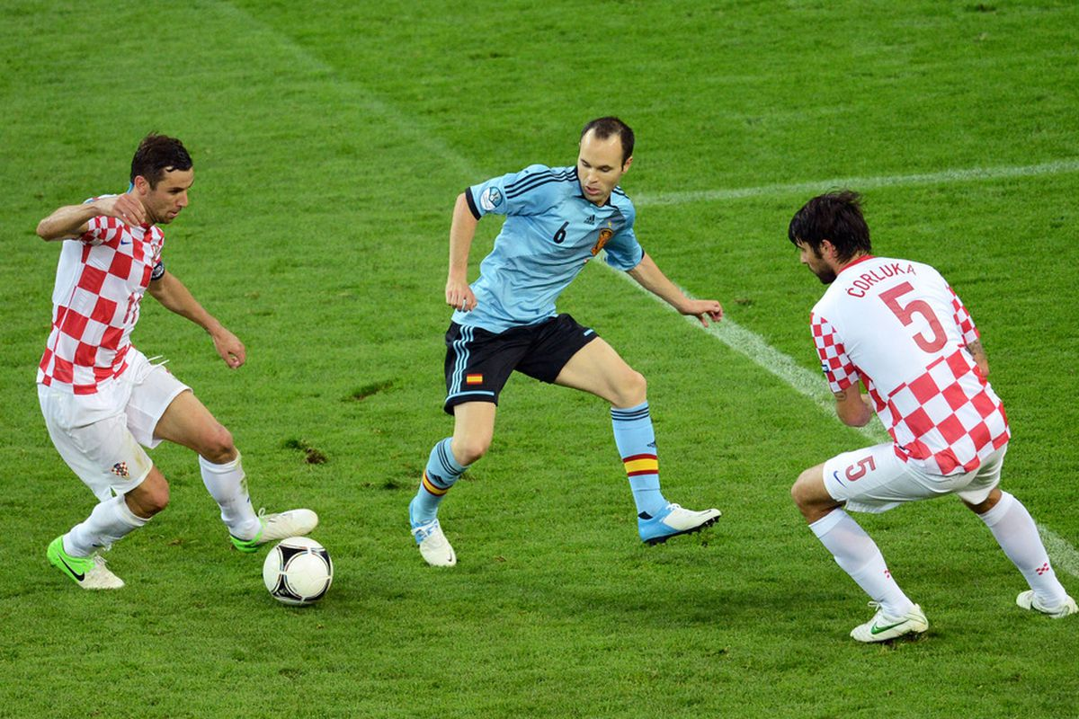 Iniesta was again crucial to Spain's success - he was named Man of the Match.