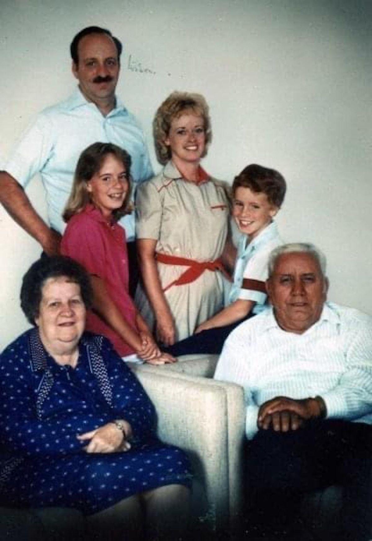 A 1985 family photo with Eileen Coglianese, her husband fire Lt. Edmond P. Coglianese, their children Allyson and Matthew and Mr. Coglianese's parents Joseph and Helen.