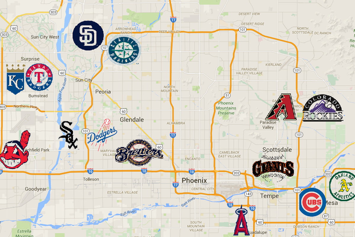 Mlb Spring Training Map A Driver's Guide To Arizona Spring Training   Bleed Cubbie Blue Mlb Spring Training Map