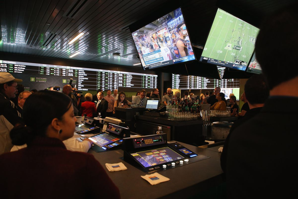 Atmosphere at the Grand Opening of DraftKings Sportsbook at Resorts November 20, 2018 at Resorts Casino Hotel in Atlantic City, New Jersey.