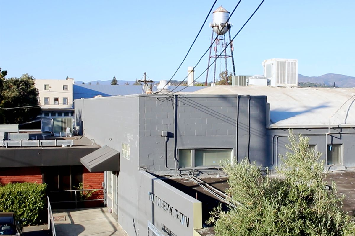 The exterior of Tannery Bend Beerworks.