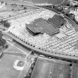 <strong>1965- Aerial view of the Florida State University football game</strong>