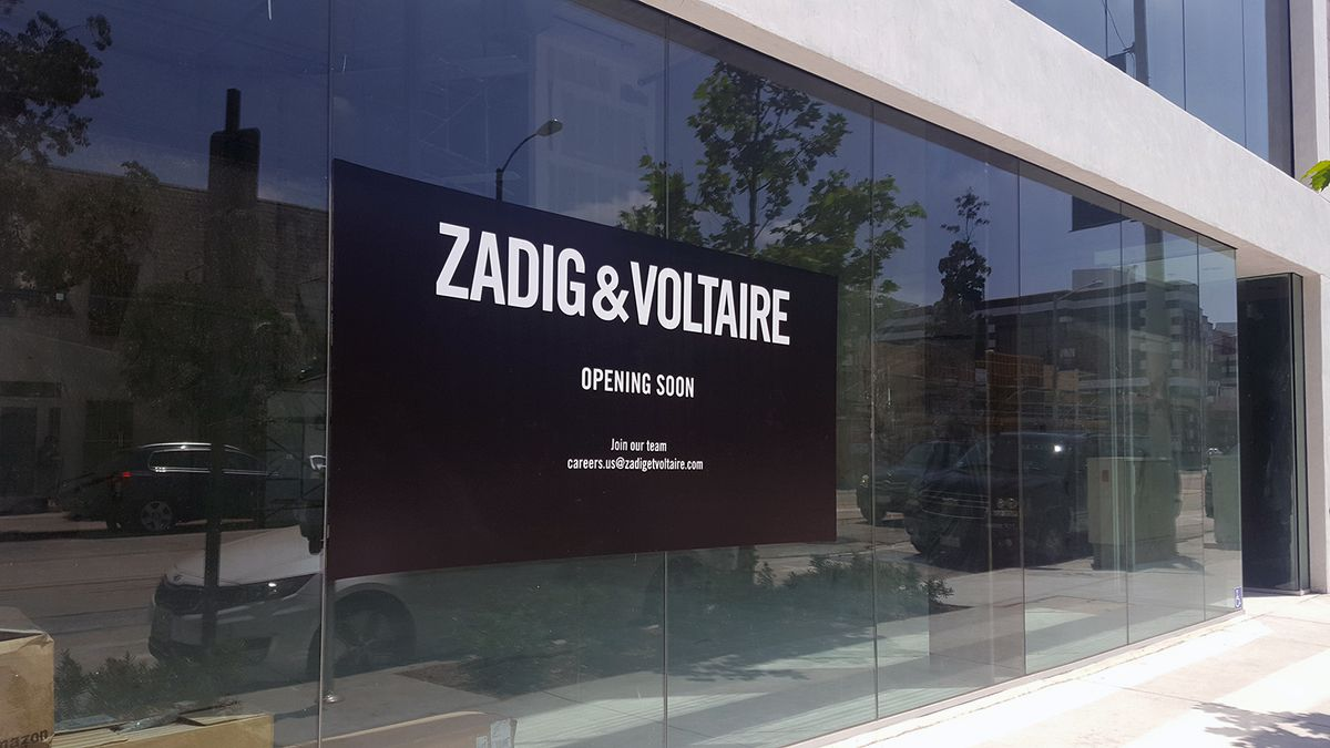 Zadig and Voltaire storefront on Melrose Avenue