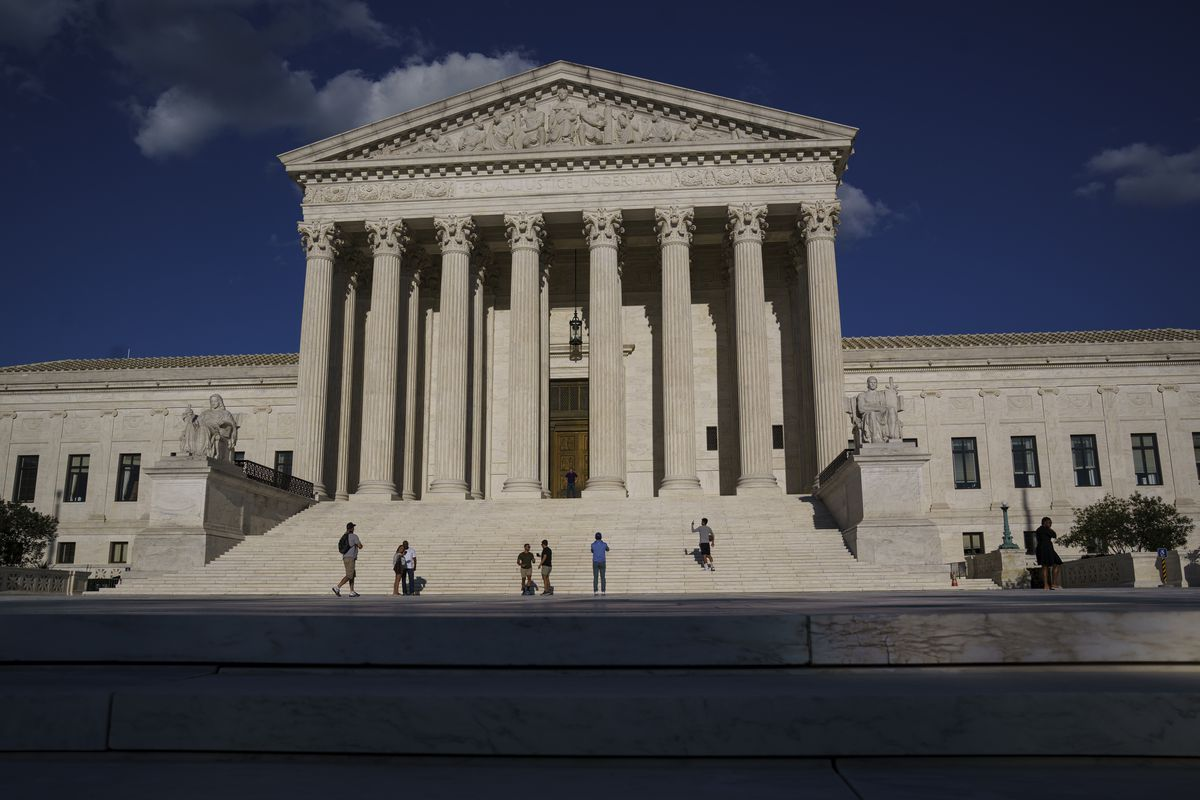 This Friday, Sept. 3, 2021, photo shows the Supreme Court in Washington.
