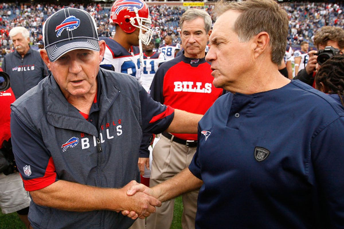<em>It's all handshakes here, but Chan Gailey knows Bill Belichick will probably keep on winning with his stockpile of draft picks</em>.