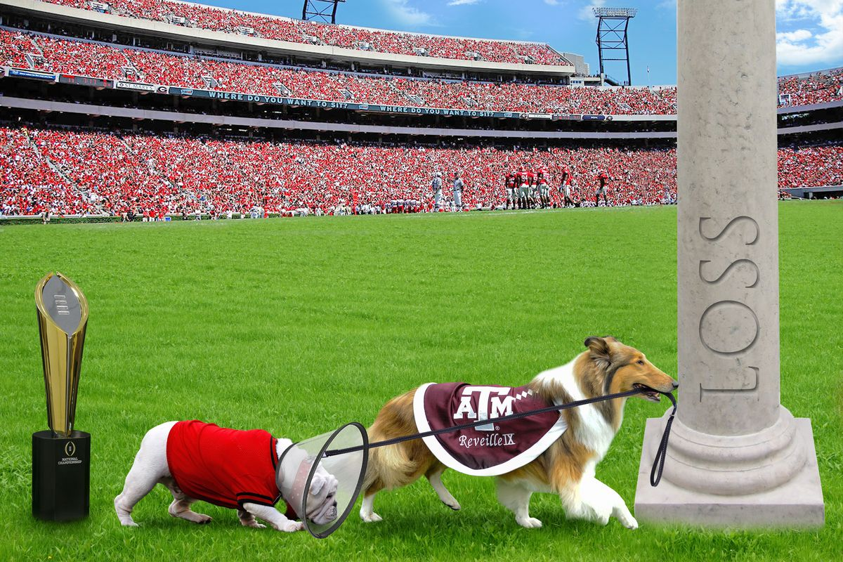The Tailgate A Graphical Preview Of Texas A M Vs Georgia Good Bull Hunting