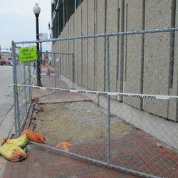 Excavation on Addison, sidewalk closed -