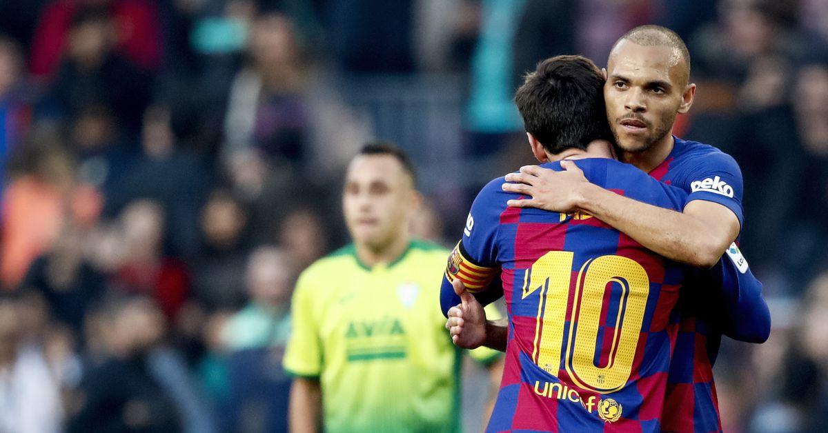 Martin Braithwaite says he won't wash his clothes after Lionel Messi hug