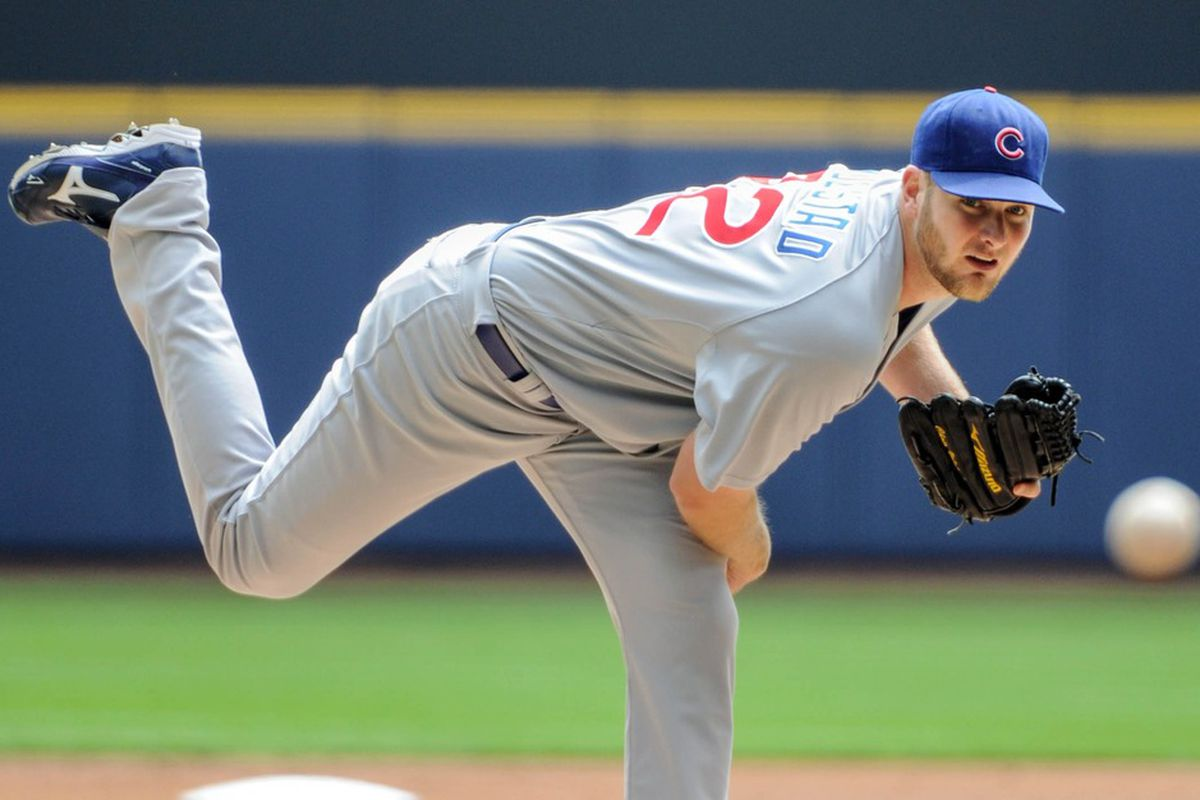 Chris Volstad was very good tonight as he pitched Iowa to a victory, snapping an eight-game losing streak. Credit: Benny Sieu-US PRESSWIRE