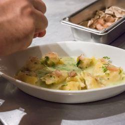 The lonzino adds a salty, tasty pop of flavor.