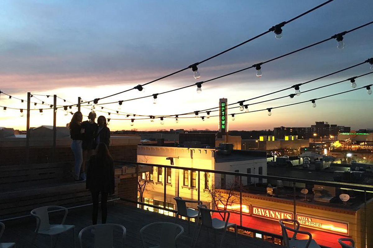 Everything's better on the roof. Libertine's patio is open this weekend.