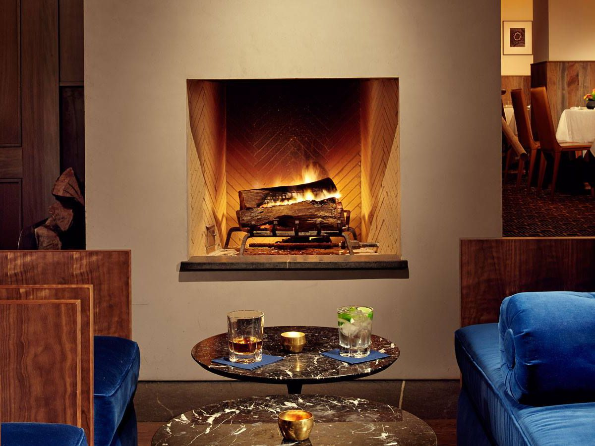 The fireplace at Jeffrey's