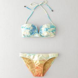 "<b>We Are Handsome</b> Mustang Bandeau Bikini, <a href=""http://www.stevenalan.com/MUSTANG-BANDEAU-BIKINI/VENSP13_NA_SP13-BB091301,default,pd.html?dwvar_VENSP13__NA__SP13-BB091301_color=MULTI#cgid=womens-clothing-swim&start=0&hitcount=20"">$288</a> at Steve"