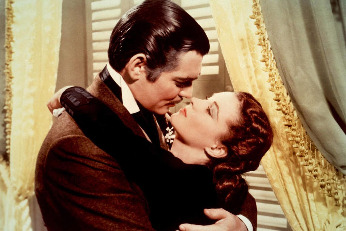 """Clark Gable and Vivien Leigh star in the 1939 movie """"Gone With the Wind."""""""