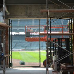 3:01 p.m. Gate Q, with new wall above the gate -