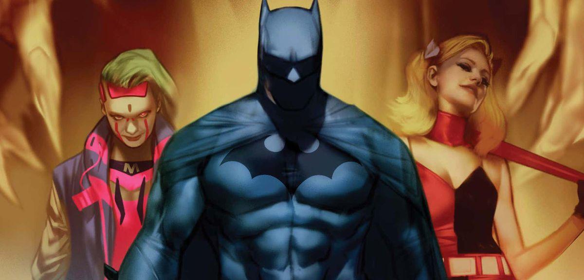 Batman: Fear State - Punchline, Batman, and Harley Quinn