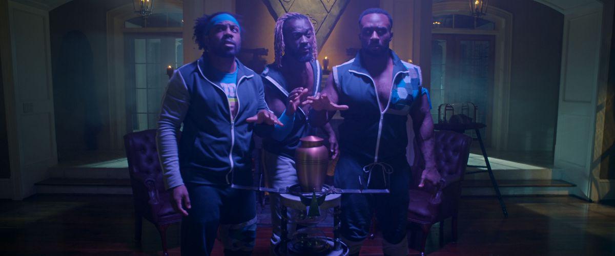 Big E, Xavier Woods and Kofi Kingston in Escape The Undertaker