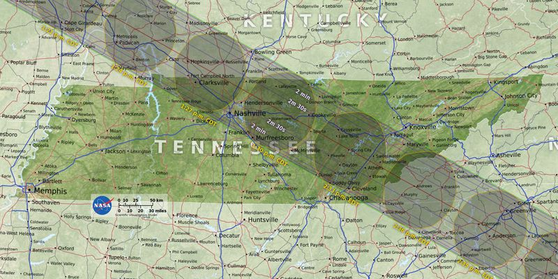 Solar Eclipse The Best Places To See The Rare Phenomenon Vox - Us map of those on states checks