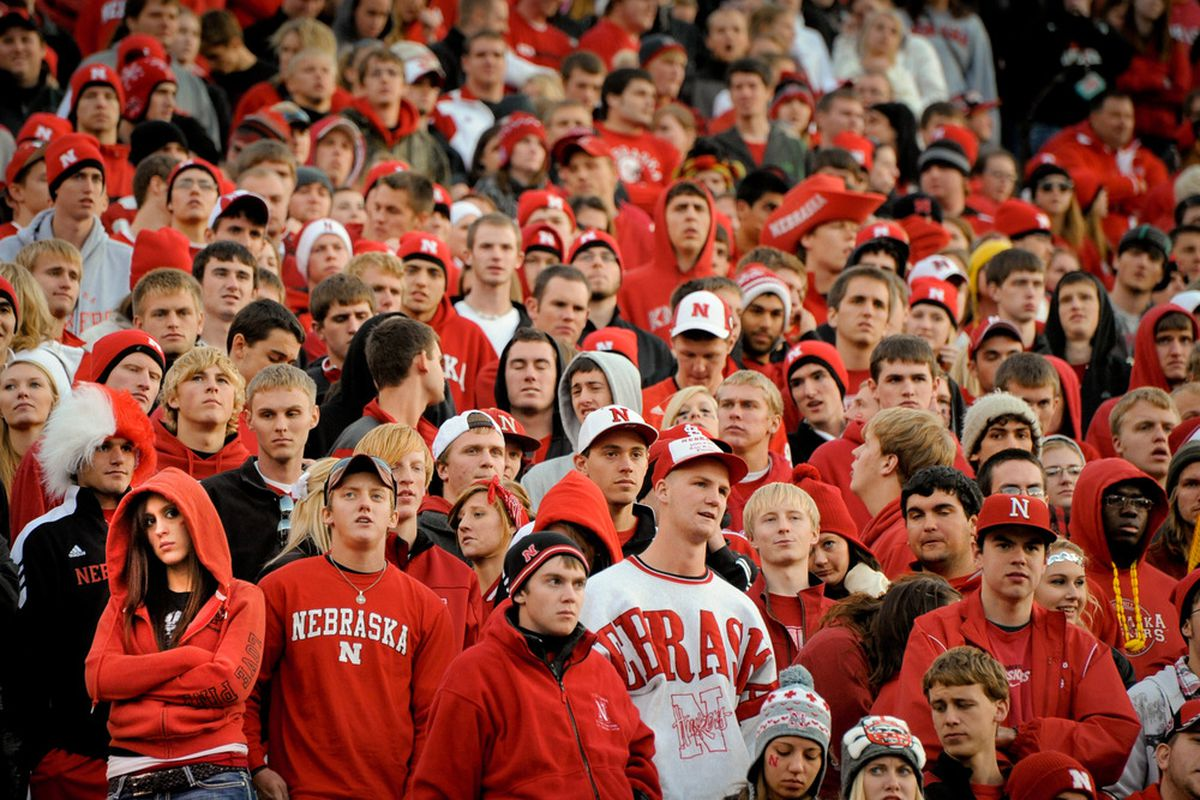 LINCOLN, NE -This is what I imagine the crowd looked like after Penn State jumped out to a 20-0 lead at the dual on Friday night. (Photo by Eric Francis/Getty Images)