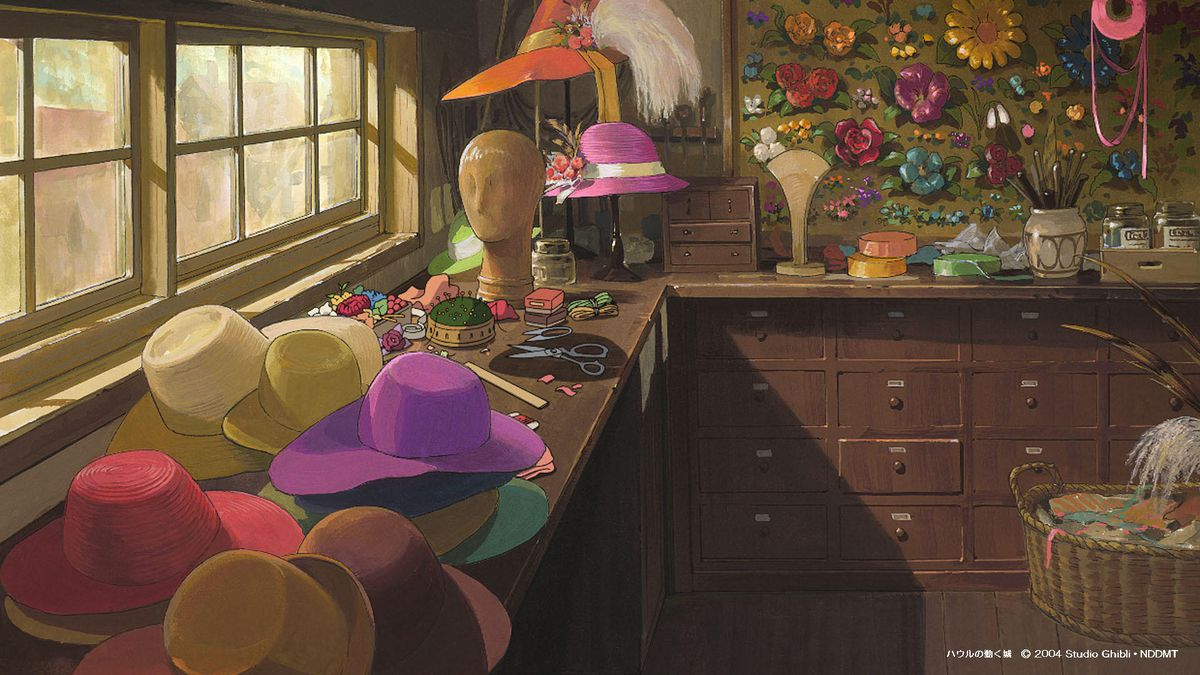 sophie's hat shop from howl's moving castle