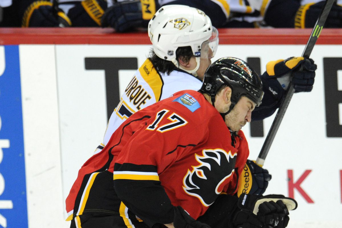 Both the Flames and Preds have some young guys in the lineup.