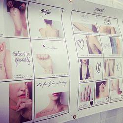 """Tasteful temporary tatts, courtesy of <a href=""""http://www.tattify.com/""""target=_blank"""">Tattify</a>."""