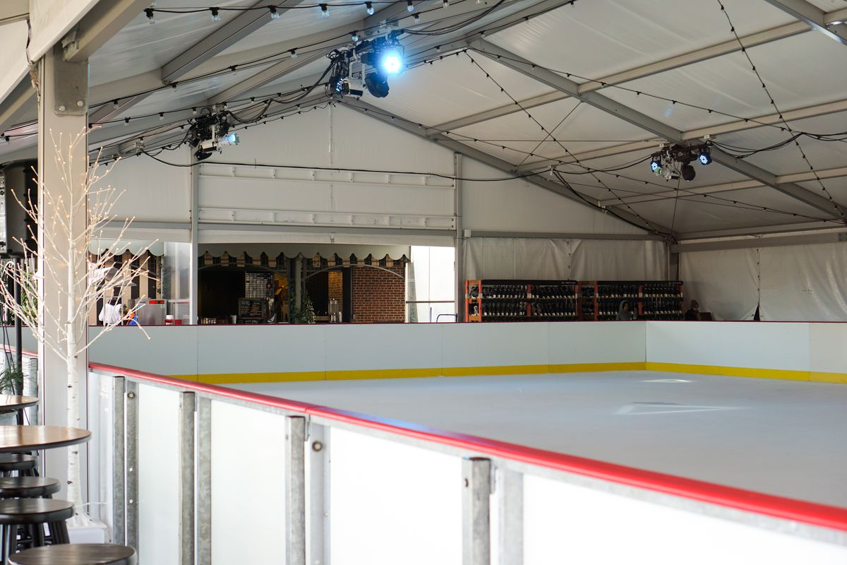 The skating rink on the roof of Ponce City Market