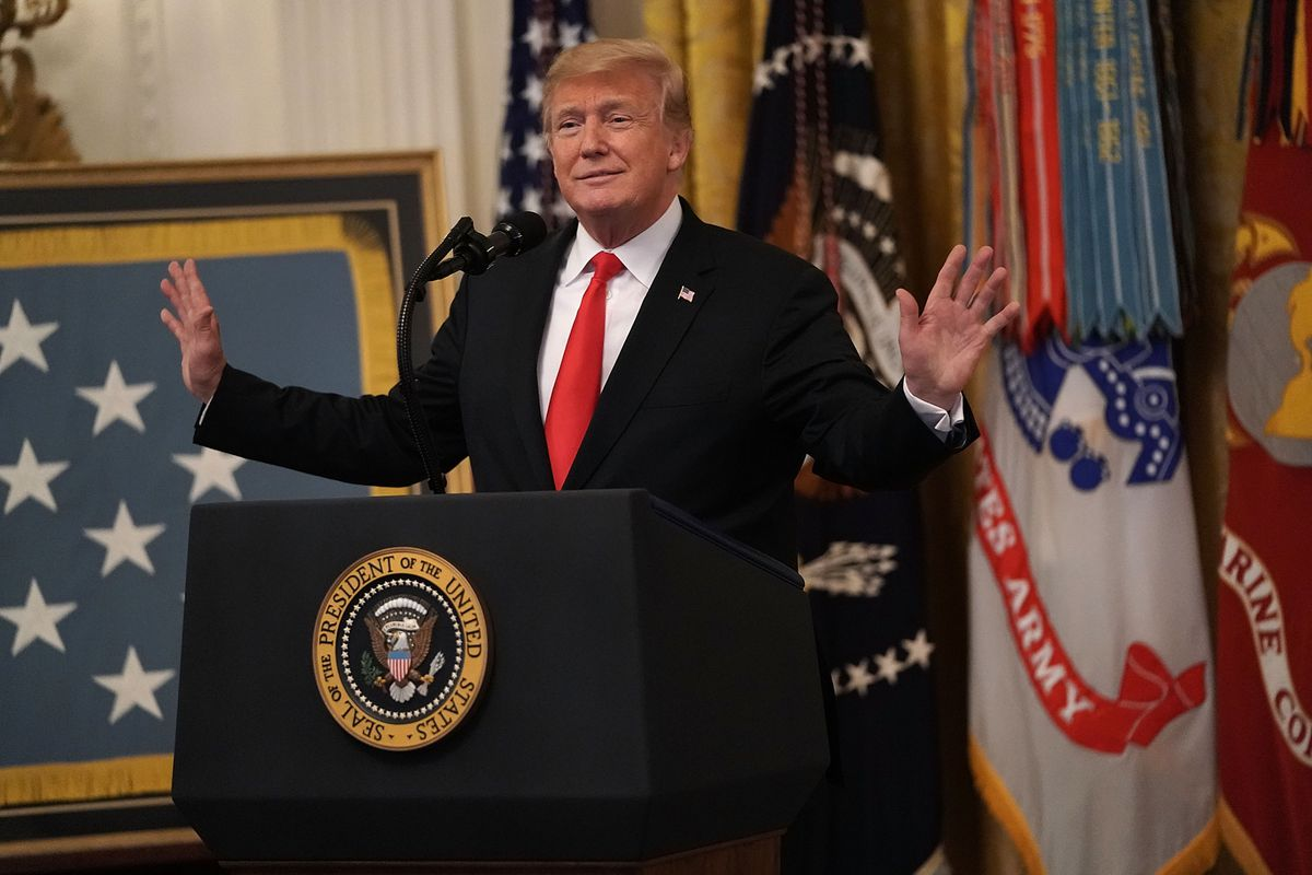 President Trump Attends Congressional Medal Of Honor Society Reception