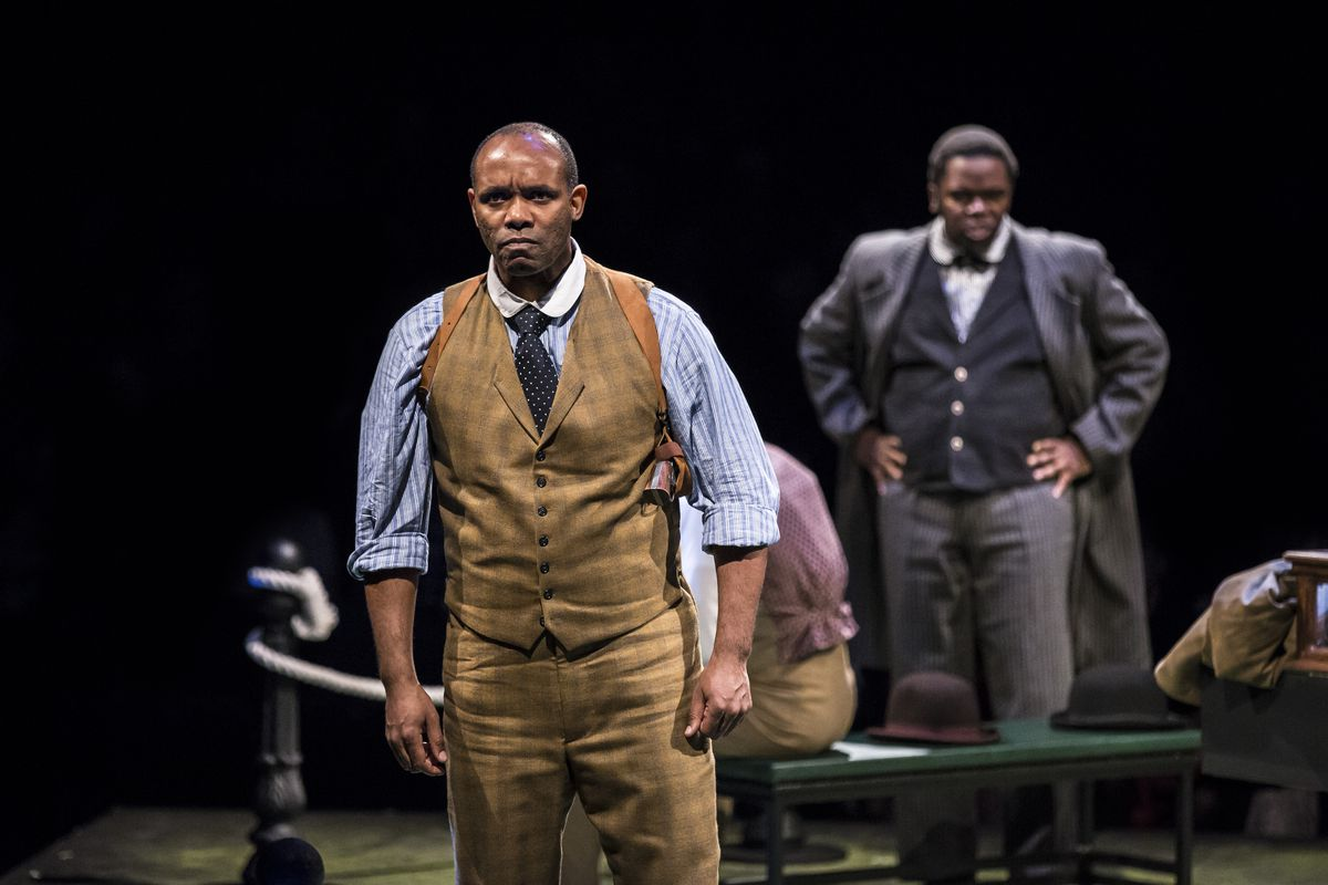 """Nathaniel Stampley (foreground) and Jonathan Butler-Duplessis were among the cast of the 2018 production of Terrence McNally's """"Ragtime"""" at the Marriott Lincolnshire Theatre."""