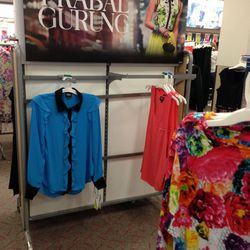 Just a couple ruffle blouses could be found.