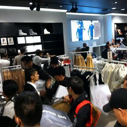 Men's shoppers being herded out