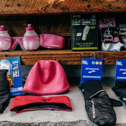 """""""This accessory that we've been selling like crazy is from a company called Buff [at left]. They're pretty much neckwarmers—think of it like a traditional turtleneck, but without the shirt."""" (approximately <a href=""""http://www.buffusa.com/sports"""">$25</a> a"""