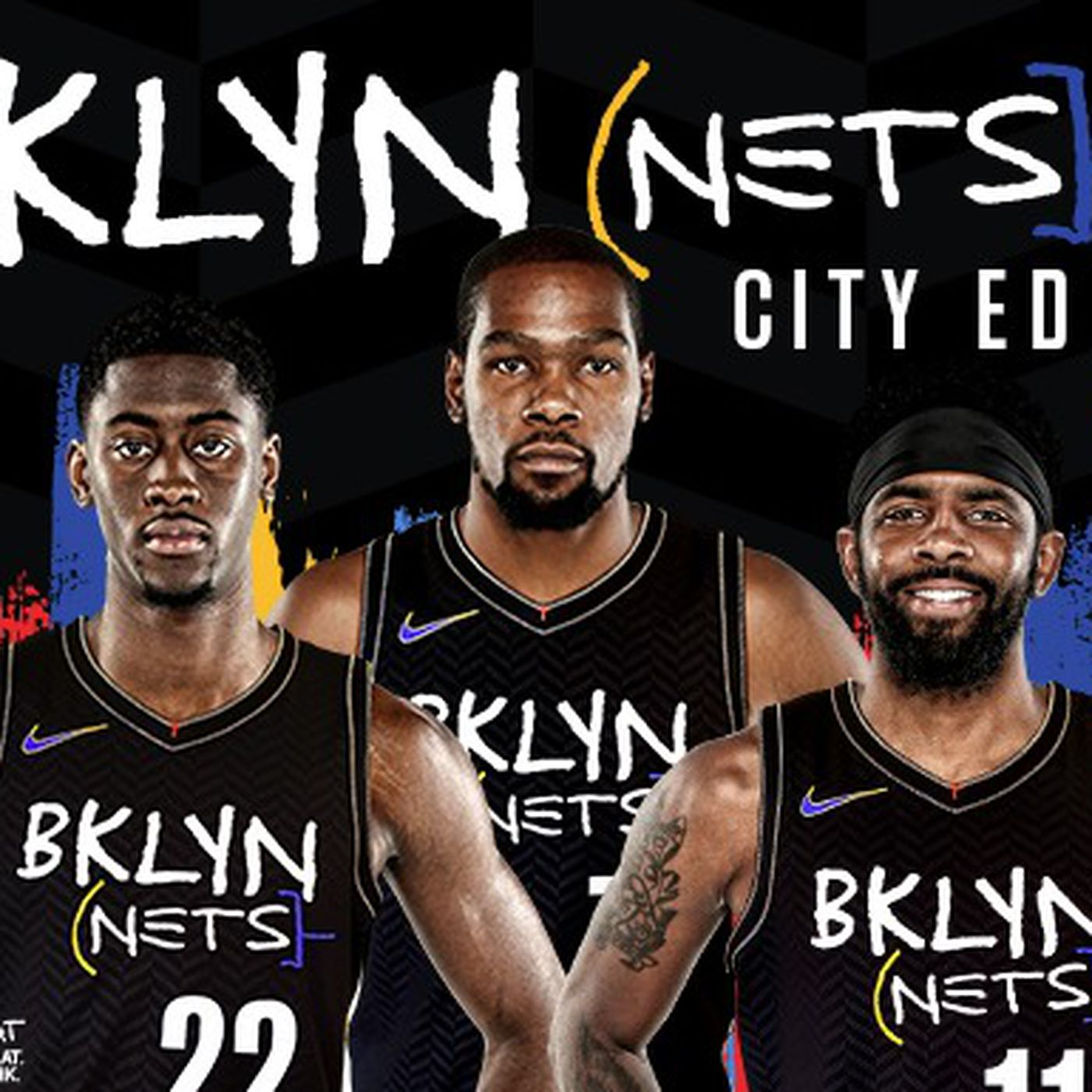 Nets' Basquiat-themed City Edition gear goes on sale ... with 'Big Three'  promotion - NetsDaily
