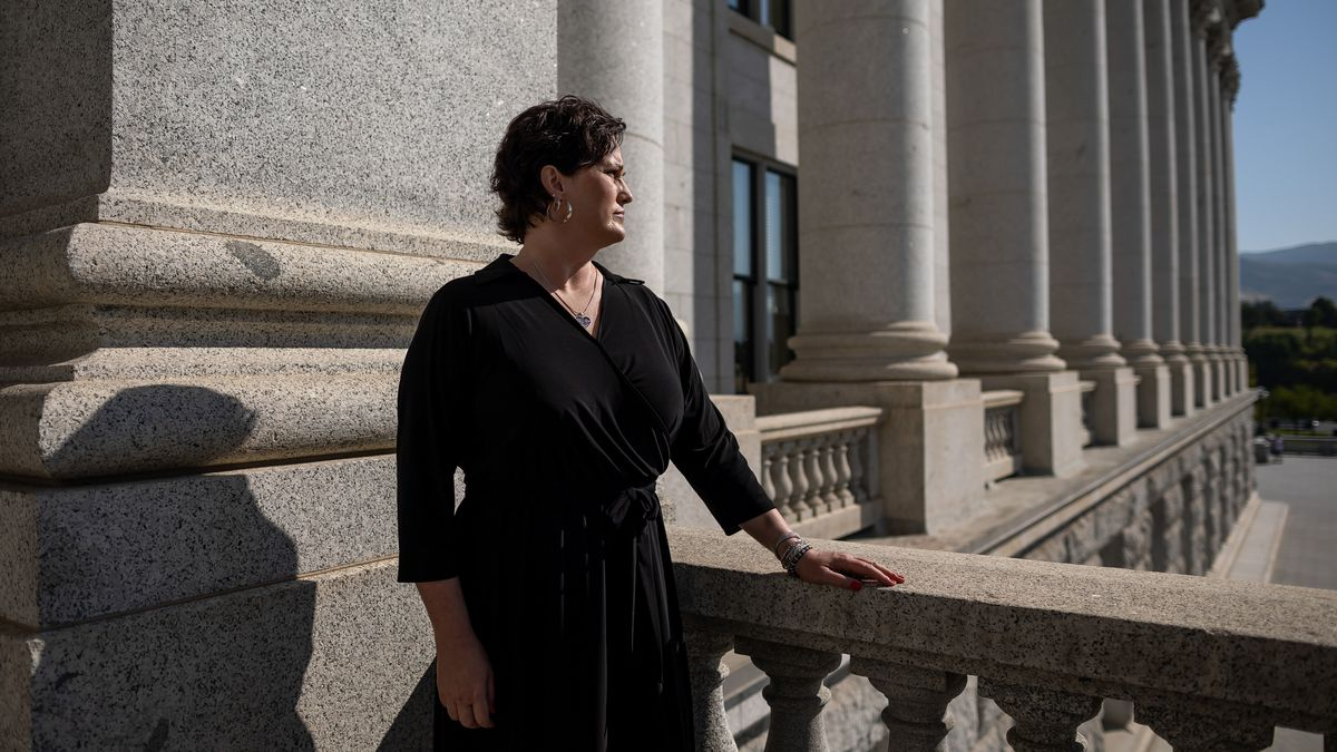 Sharon Weeks poses for a portrait at the Capitol in Salt Lake City on Wednesday, Sept. 15, 2021.