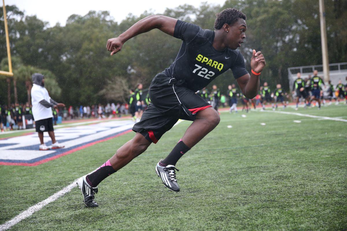 Jacksonville (Ed White), Fla., athlete Javarius Davis.