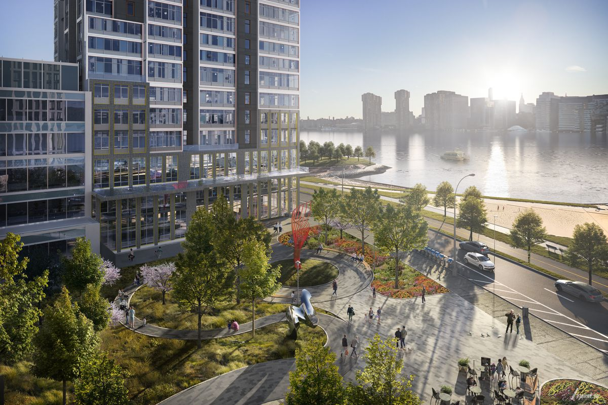 New looks at TF Cornerstone's massive Hunter's Point South rentals