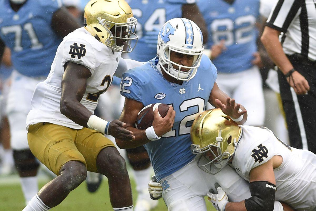 NCAA Football: Notre Dame at North Carolina