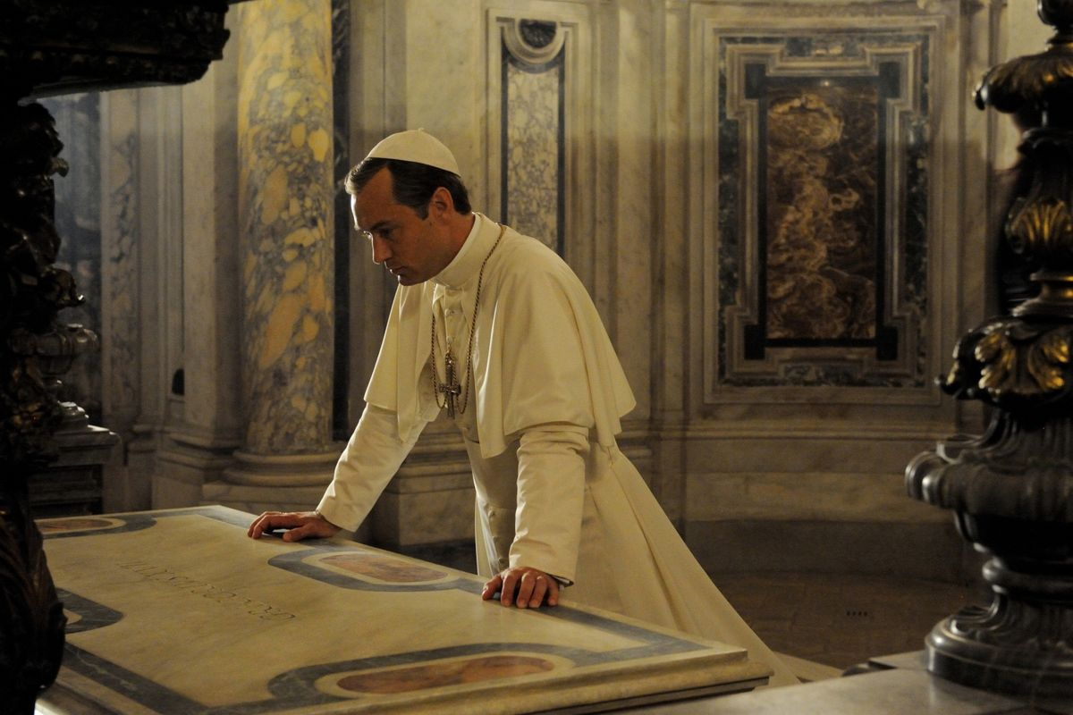 Jude Law as Pope Pius XIII in The Young Pope