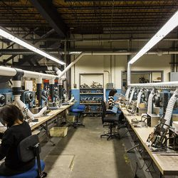 In total, Randolph employs over 60 people (both front- and back-office), hiring close to 30 of them in the last couple of years. Most of the machinery was made by hand, remaining in use for the past several decades.