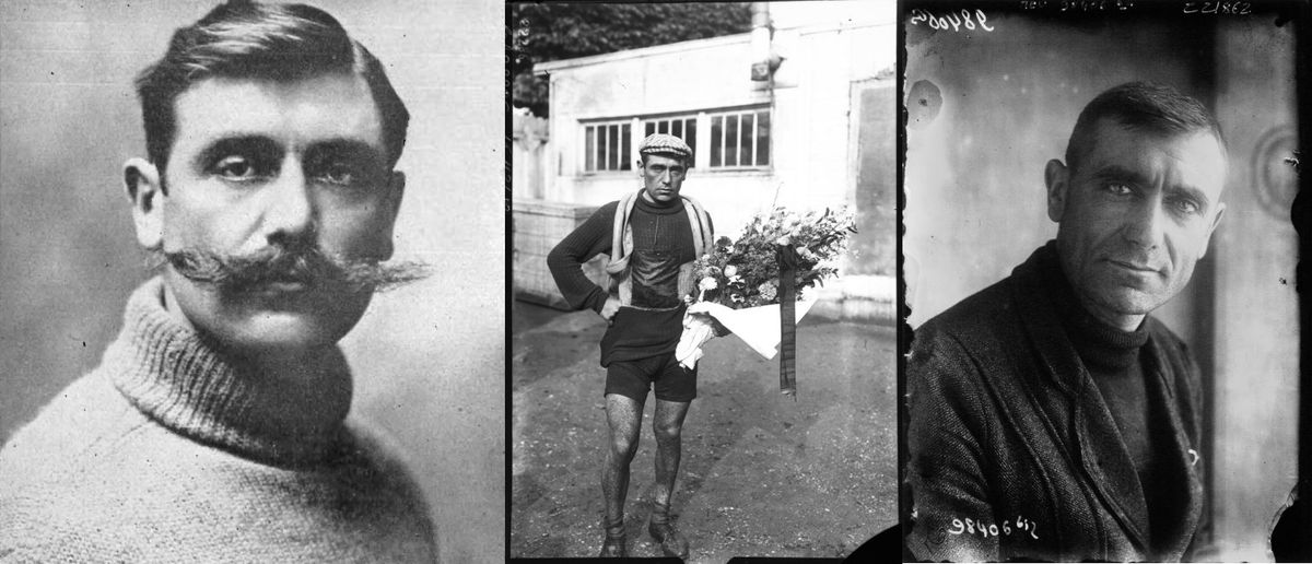 Eugène Christophe in 1910, 1912 and 1922
