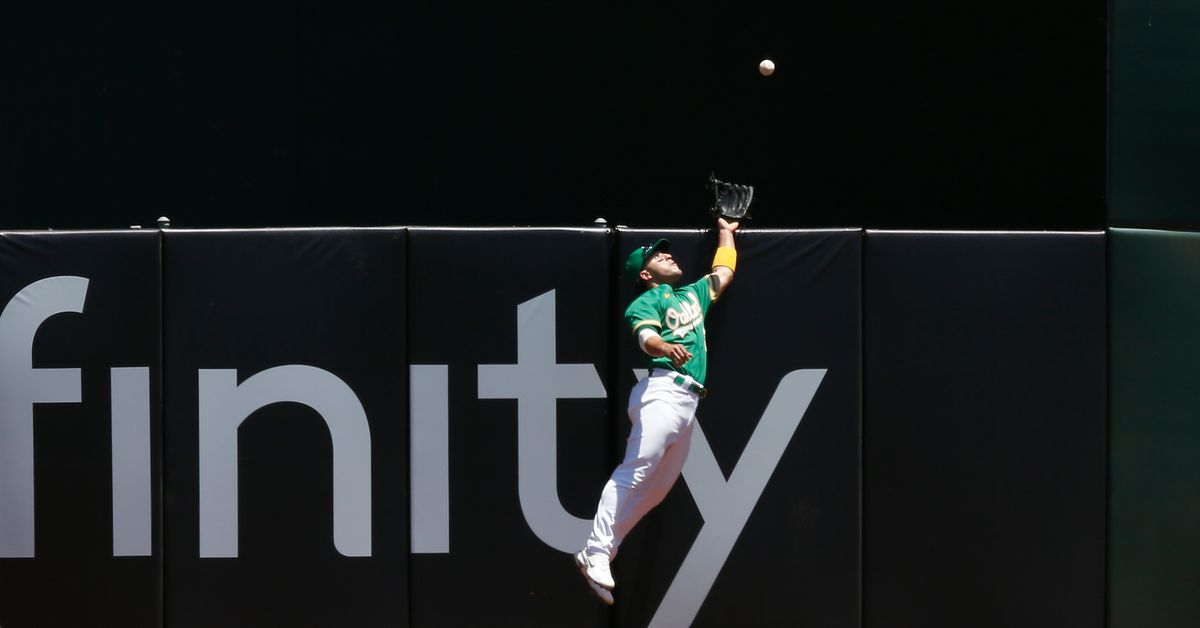 Oakland A's Ramon Laureano robs a homer, hits a homer in return from injured list