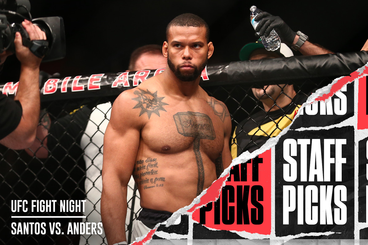 Ufc Fight Night Santos Vs Anders Staff Picks And Predictions