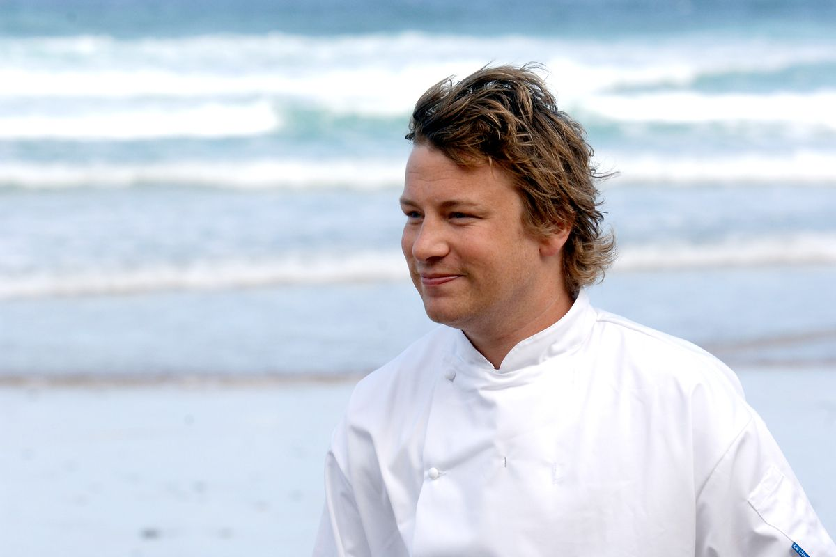 Jamie Oliver at Fifteen restaurant in Cornwall