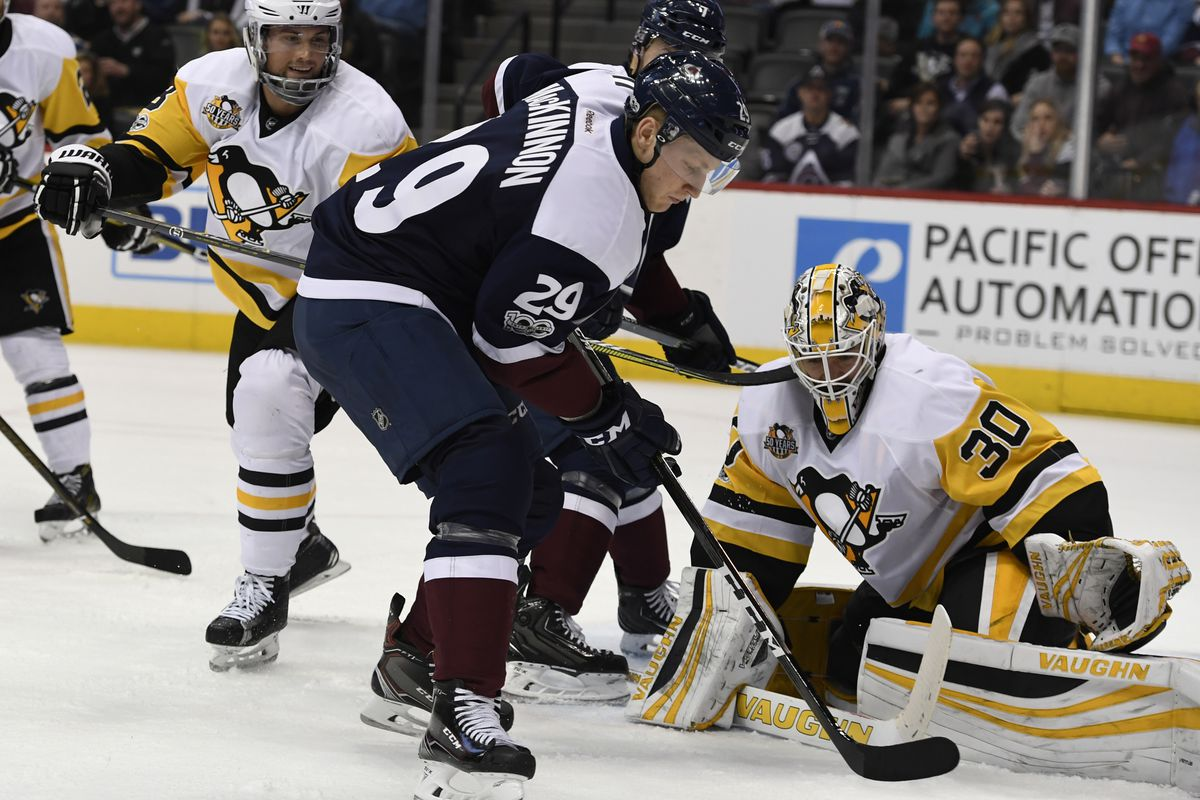 Colodrado Avalanche versus the Pittsburgh Penguins