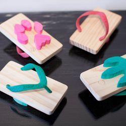 """Kukkia beach sandals, <a href=""""http://www.honeyintherough.com/kukkia-Cat-Ashiato-Beach-Sandals.html/?"""">$30</a> per pair"""