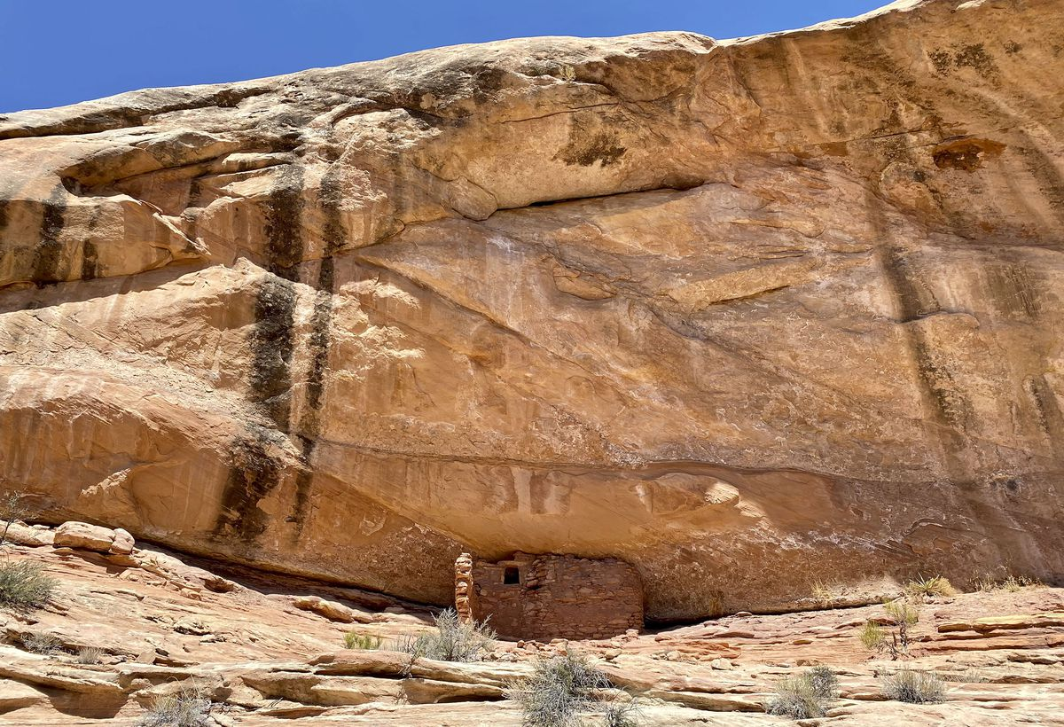 Anasazi ruins that are over 700 years old are pictured in Mule Canyon in the Shash Jaa Unit of Bears Ears National Monument in San Juan County on Friday, April 9, 2021.