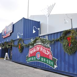 More holiday decorations on the Cubs Store